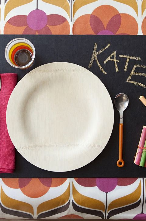 Thanksgiving Table Setting Chalkboard Placemat