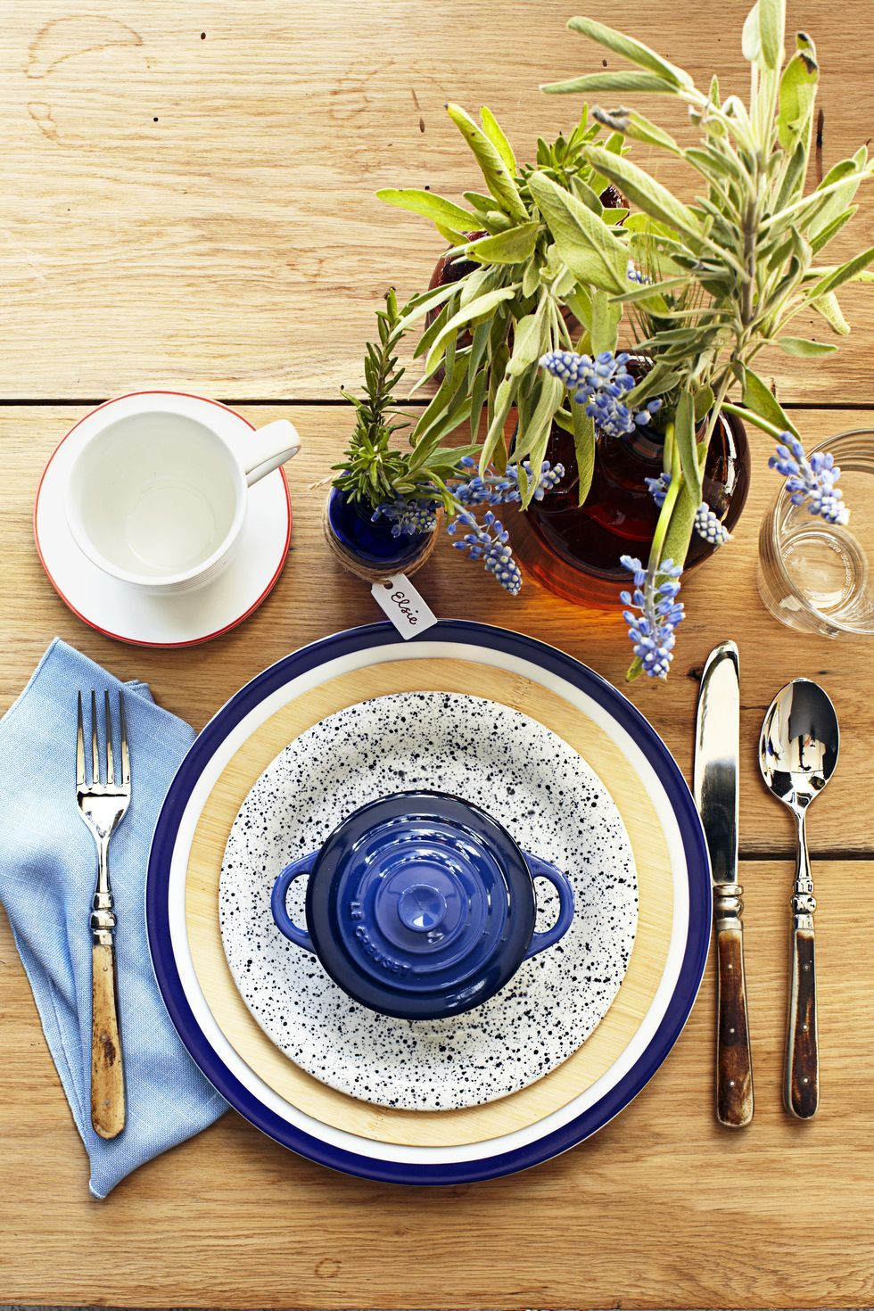 rustic country thanksgiving table setting