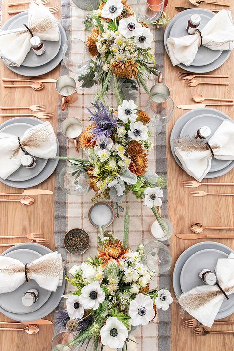 thanksgiving table settings modern rustic