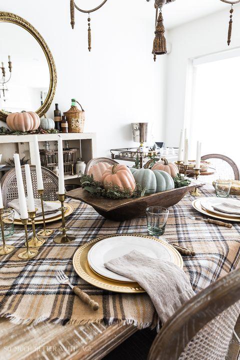 thanksgiving table settings vintage