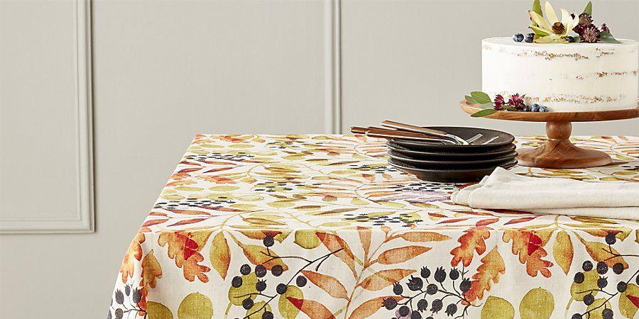 12 Best Thanksgiving Tablecloths - Stylish Fall ...