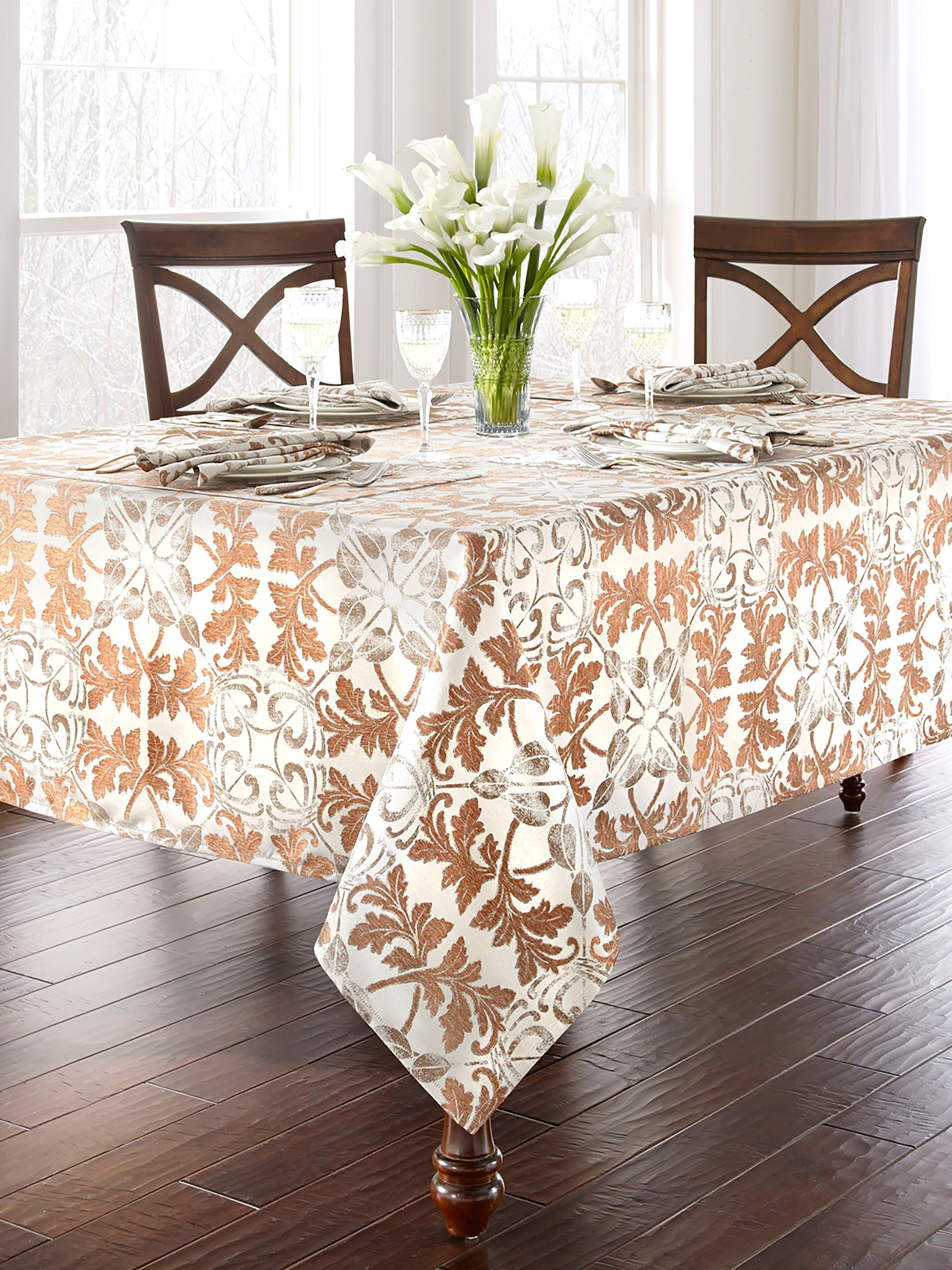 22 Best Thanksgiving Tablecloths Holiday Table Linens For