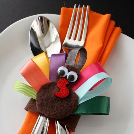 turkey napkin ring for thanksgiving tables for kids