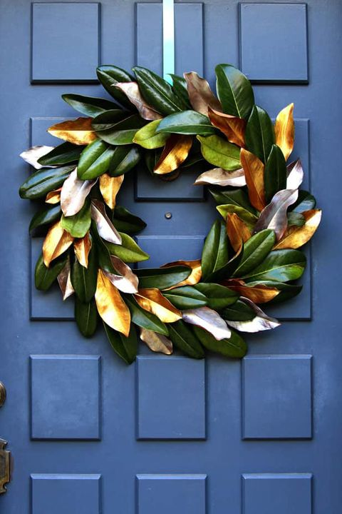 thanksgiving wreath magnolia