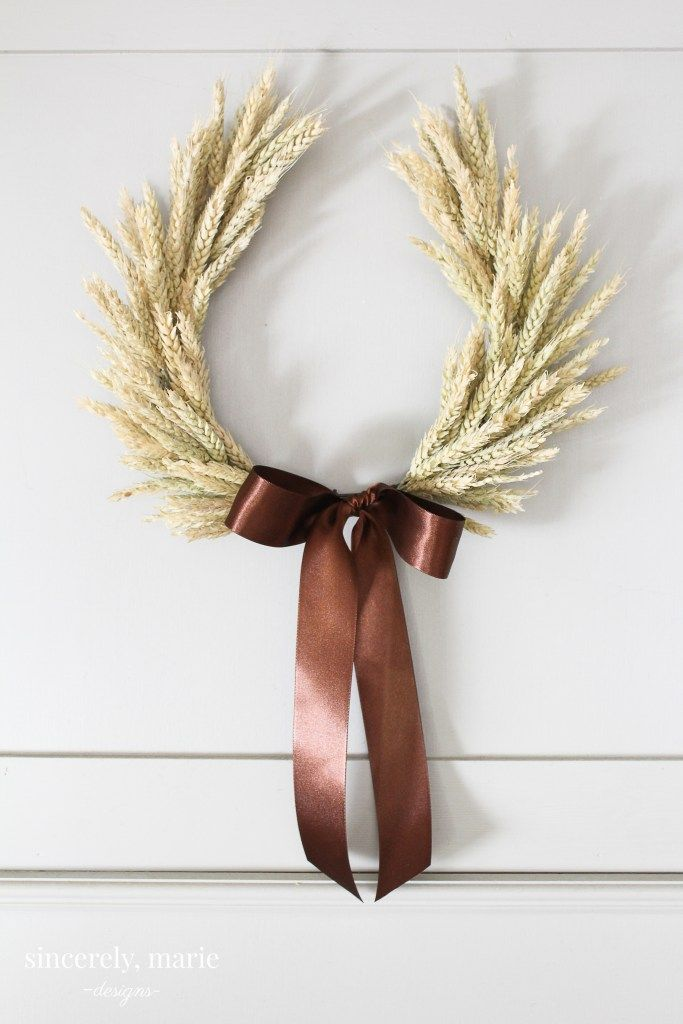 thanksgiving wreath wheat
