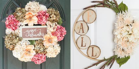 164dba1049 24 DIY Thanksgiving Wreaths - Easy Thanksgiving Door Decorations