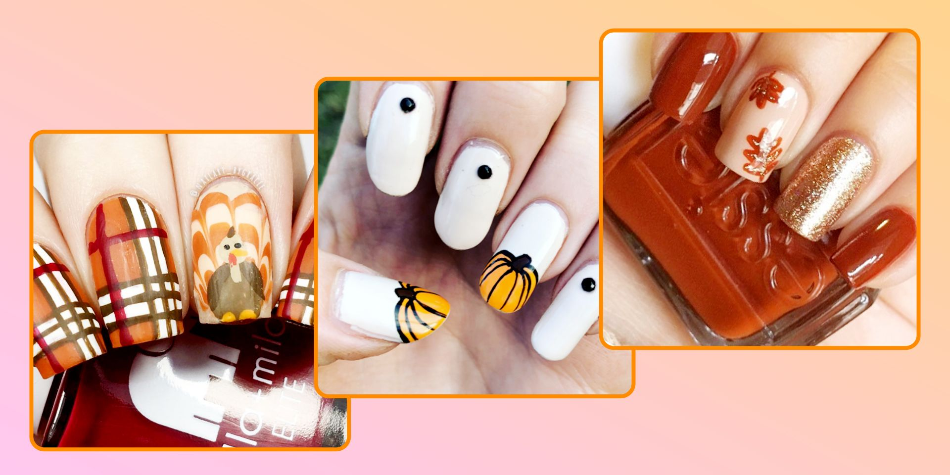 17 Cute Thanksgiving Nail Designs 2018 - Best Nail Art for Turkey Day