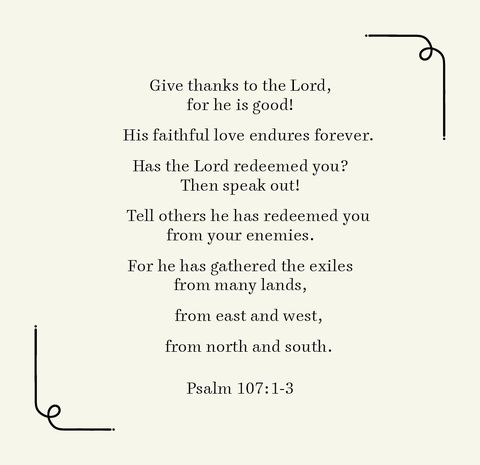 psalm 1071 3