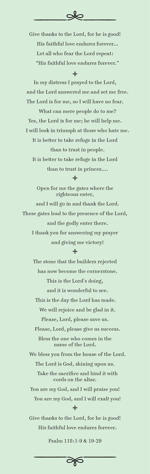 psalm 1181 9 and 19 29
