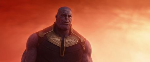 Thanos in the Soul World in Avengers: Infinity War