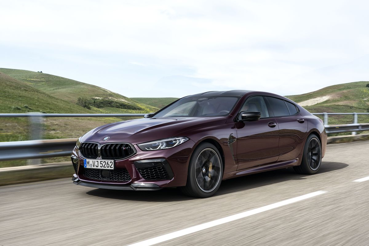 The 2020 Bmw M8 Gran Coupe Debuts In A Splendid Shade Of Purple