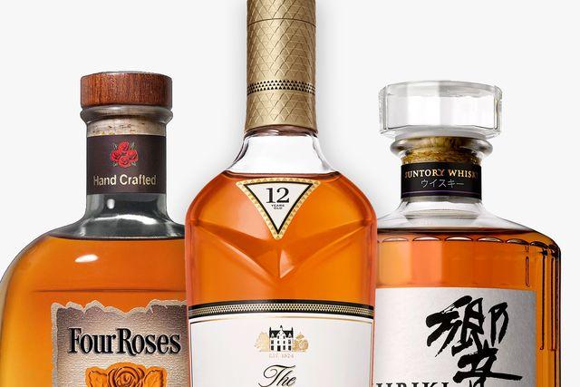 three bottles of whiskey