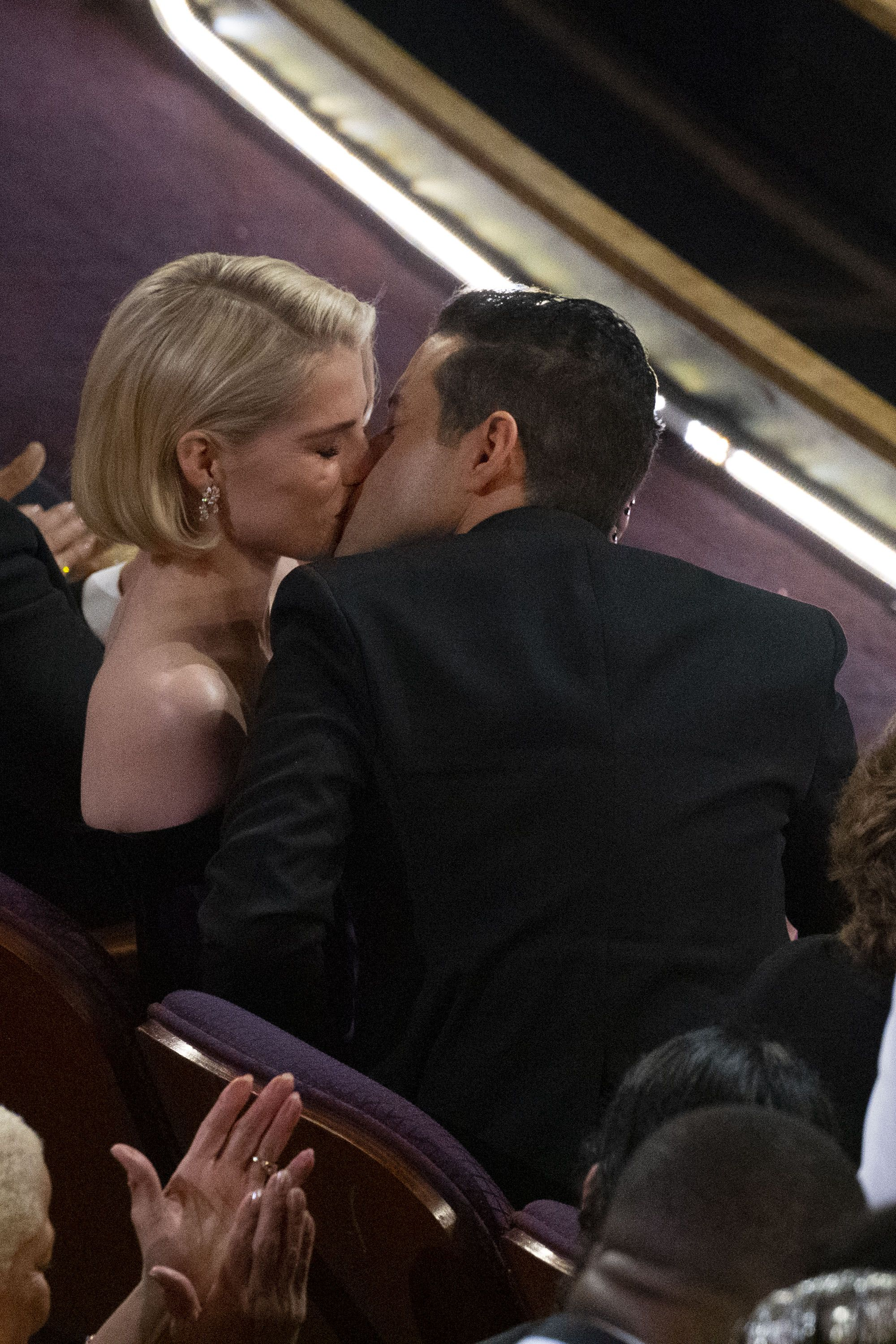Thank CBD for Lucy Boynton's Chill Reaction When Rami Malek Kissed Her at the Oscars