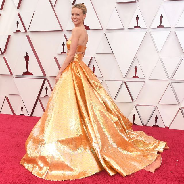 abc's coverage of the 93rd annual academy awards  red carpet carey mulligan
