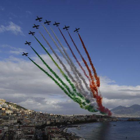 Italian Air Force Acrobatic Team - Frecce Tricolori - in Action
