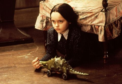 christina ricci as wednesday addams in 1991's the addams family
