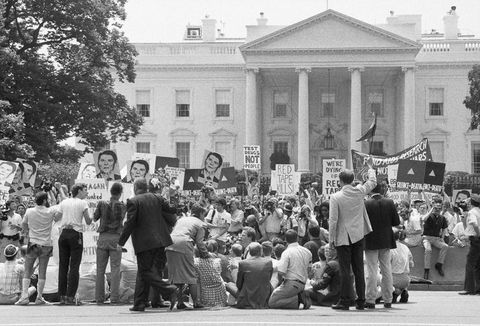 aids demonstration at white house