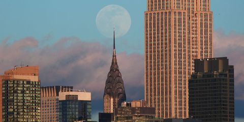Brightest Super Moon Of The Year Lights Up New York City Skies