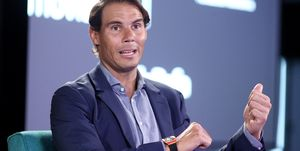 Rafa Nadal Visits 42Madrid By Telefonica Foundation