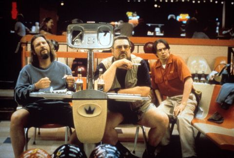 Jeff Bridges, John Goodman And Steve Buscemi In A Scene From The Movie The Big Lebowski