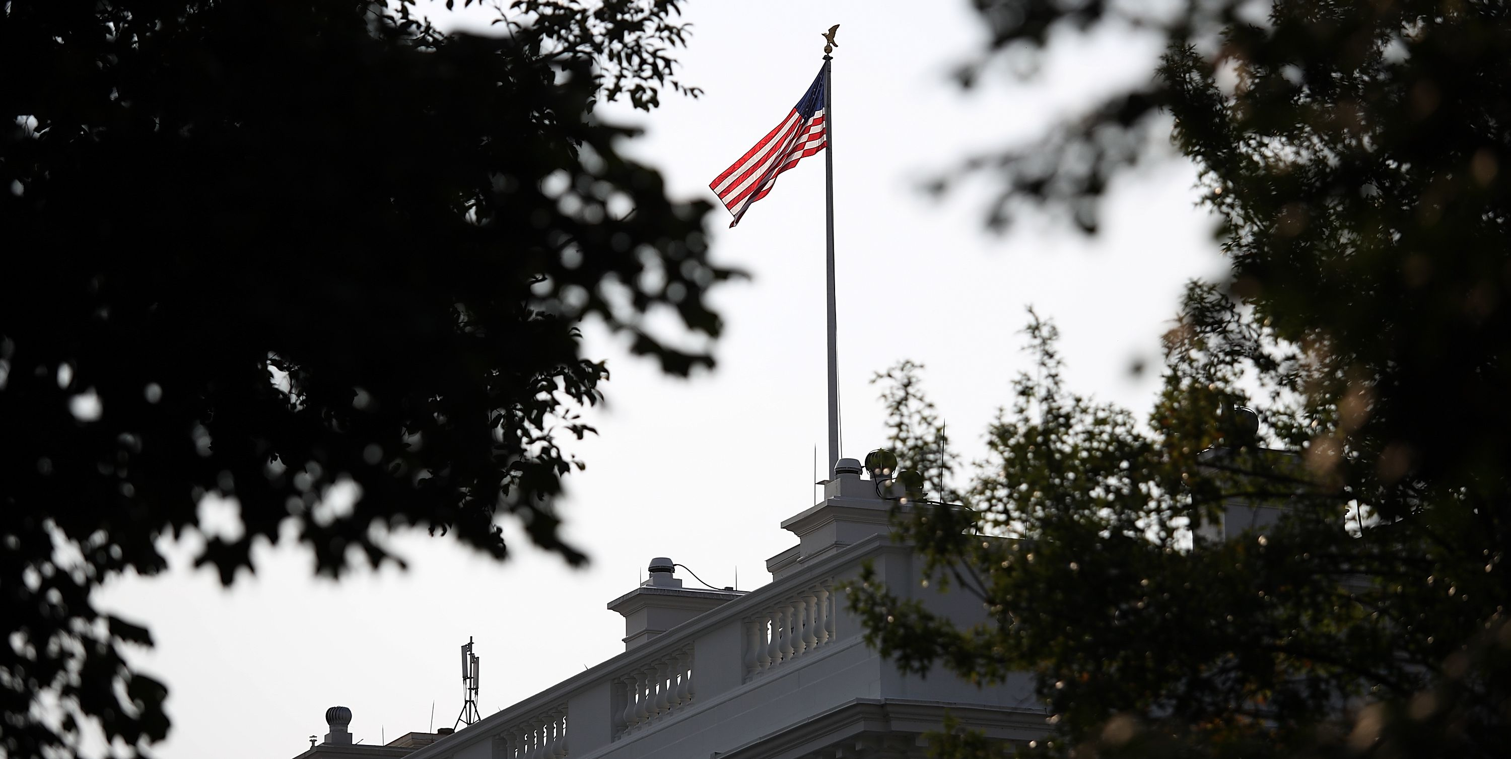 Flag At White House At Full Staff