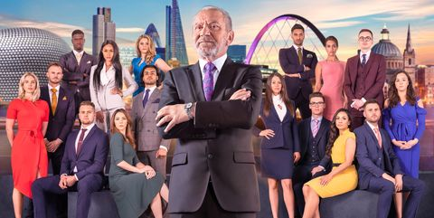 Lord Sugar with The Apprentice Candidates of 2018
