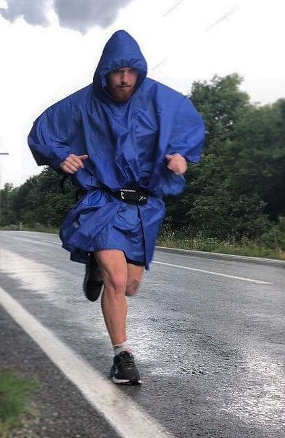 Man running from Asia to London
