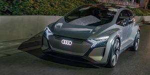 Audi AI:ME e-tron EV concept at 2020 CES show