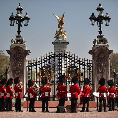 Foot Guards Of The Household Division During Changing Of The Guard