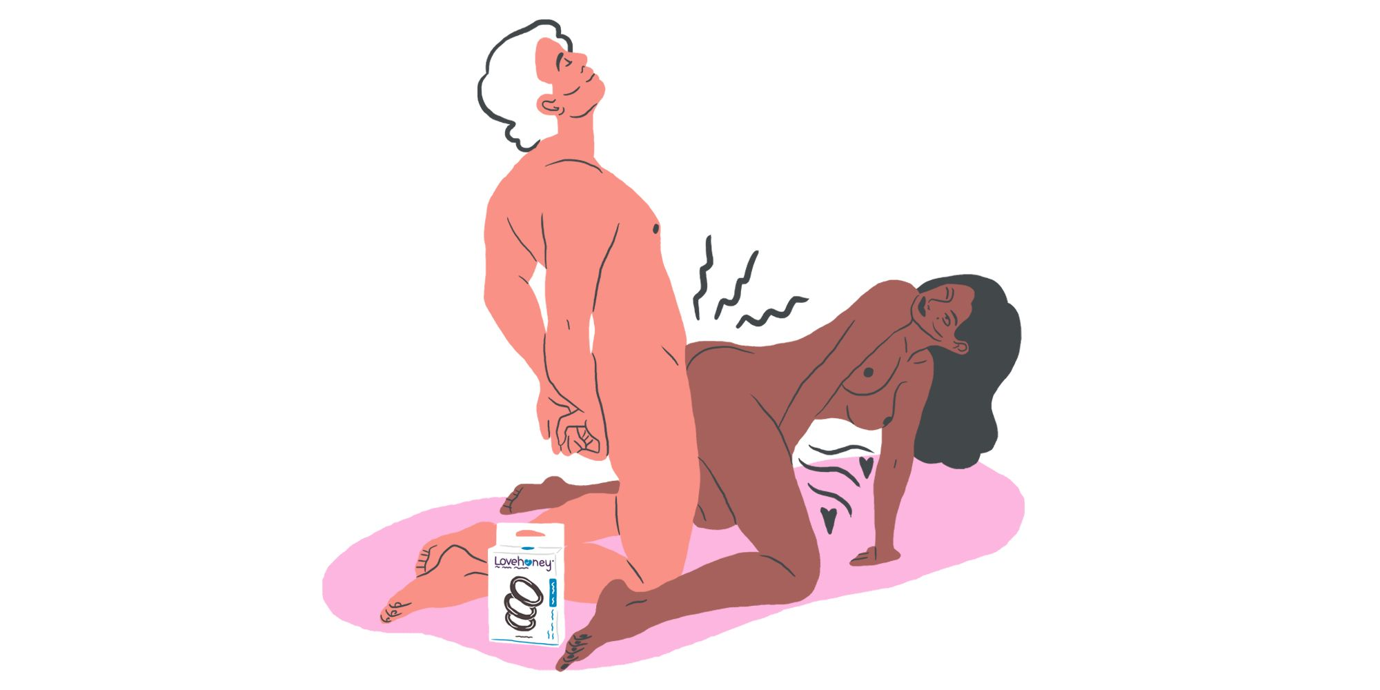 Sex using a cock ring