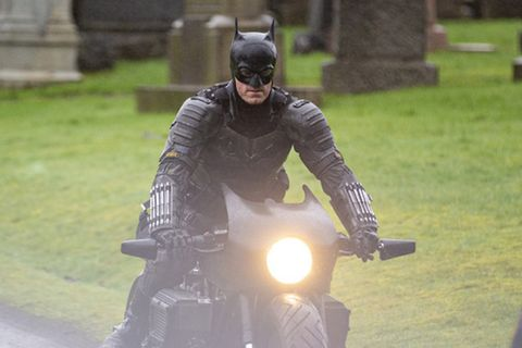 The photo of the Batman set in Glasgow