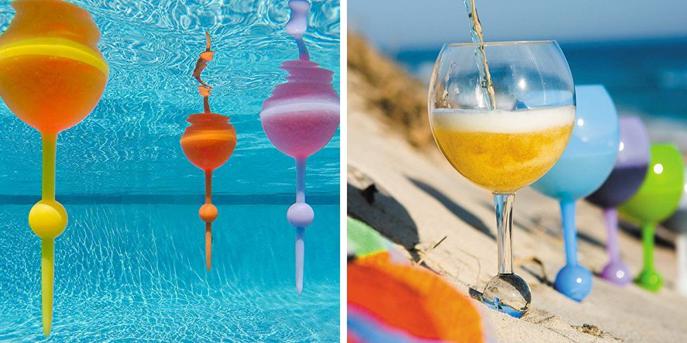 This Floating Wine Glass Will Stick By Your Side In The