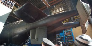Belgorod nuclear submarine launched in Severodvinsk