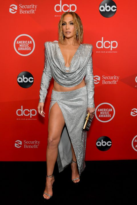 los angeles, california   november 22 in this image released on november 22, jennifer lopez attends the 2020 american music awards at microsoft theater on november 22, 2020 in los angeles, california photo by emma mcintyre ama2020getty images for dcp