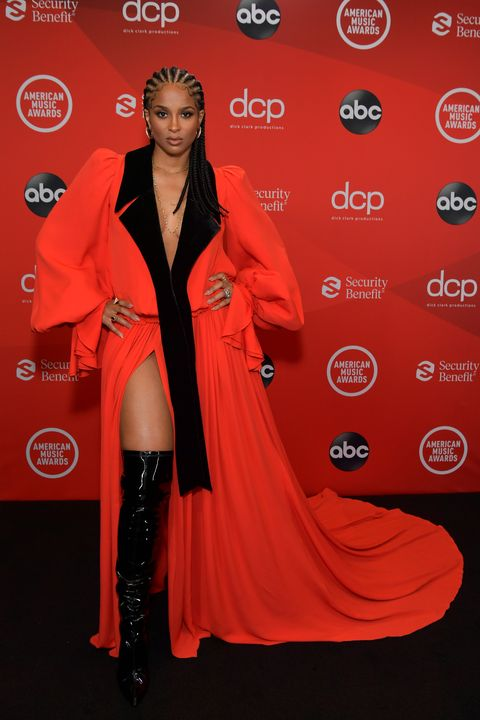 los angeles, california   november 22 in this image released on november 22, ciara attends the 2020 american music awards at microsoft theater on november 22, 2020 in los angeles, california photo by emma mcintyre ama2020getty images for dcp