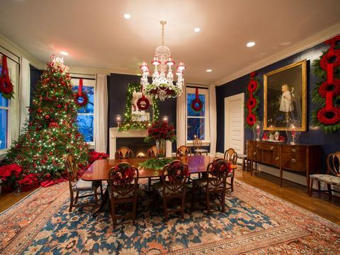 the bidens' holiday decorations at number one observatory circle in 2014