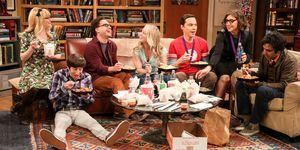 The Big Bang Theory finale, Sofa, Johnny Galecki, Kaley Couco, Mayim Bialik, Melissa Rauch, Simon Helberg, Kunal Nayyar, Jim Parsons