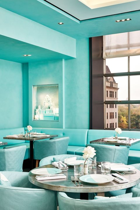 Green, Blue, Turquoise, Room, Turquoise, Interior design, Restaurant, Teal, Table, Building,