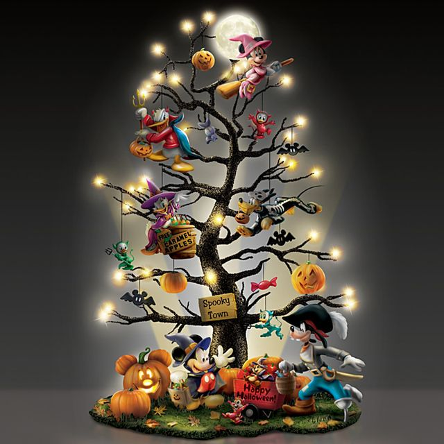 the bradford exchange disney trick or treat illuminated halloween tabletop tree