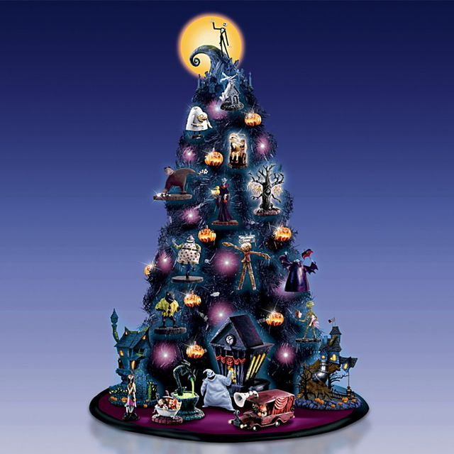 'the nightmare before christmas' halloween tree from the bradford exchange