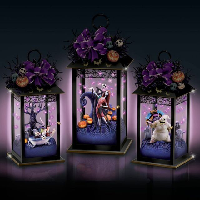 'the nightmare before christmas' lanterns from the bradford exchange