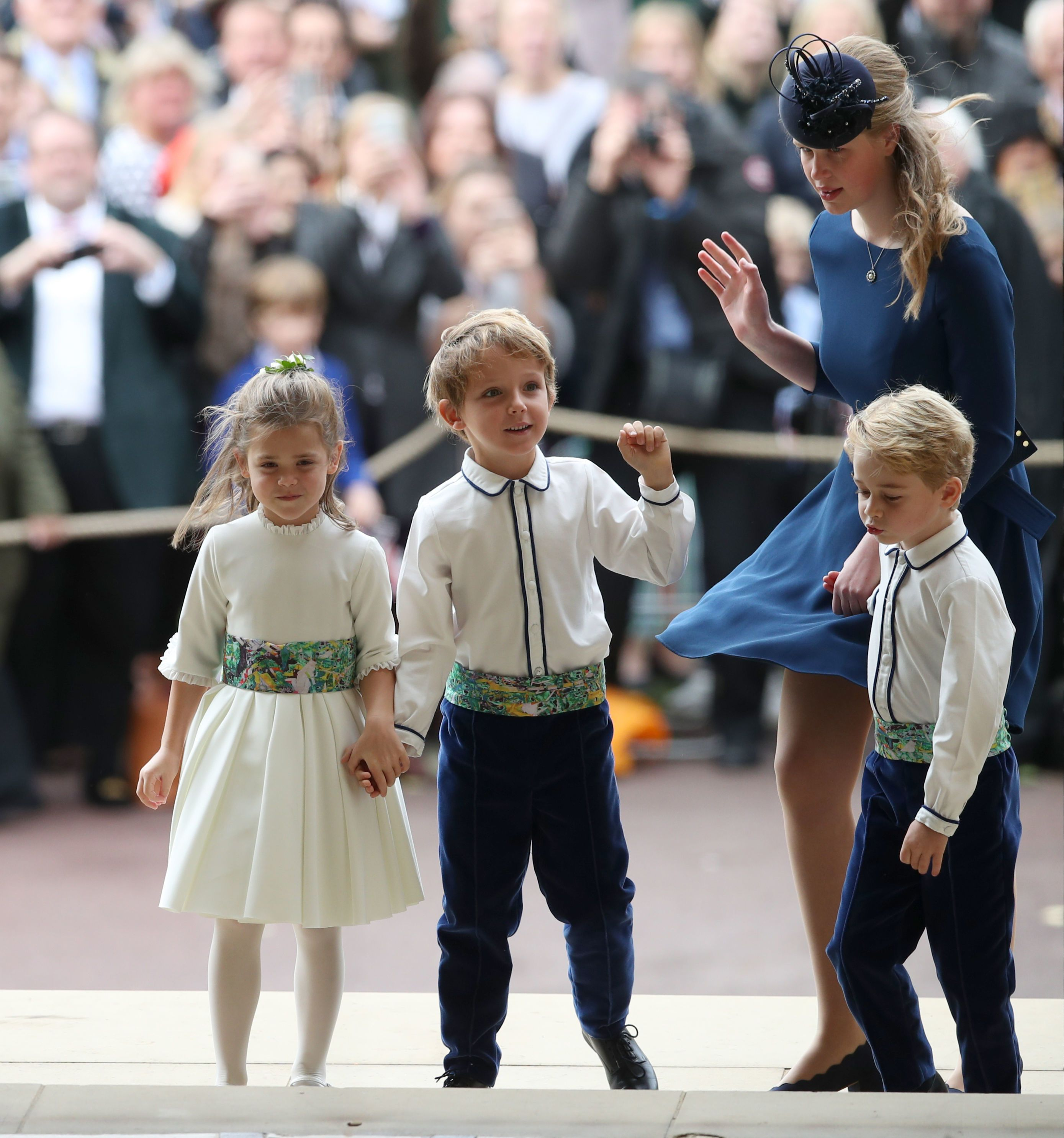 Princess Eugenie And Jack Brooksbank S Page Boys The In Royal Wedding