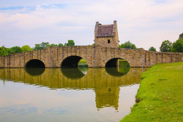 the bridge reflected