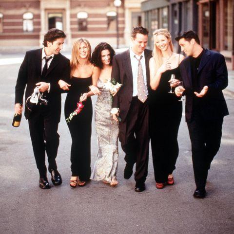 The Cast Of Friends 1999 2000 Season From L R: David Schwimmer Jennifer Aniston Courteney Cox Ar