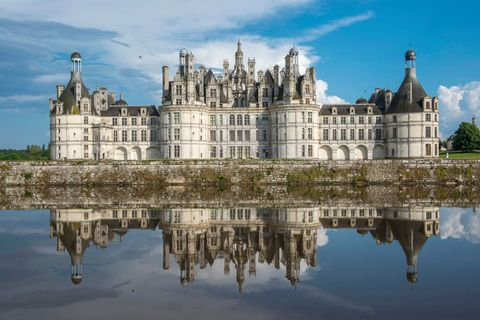 The 'Chateau de Chambord' castle.
