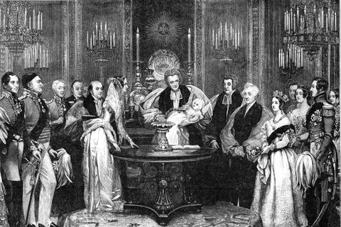 The christening of the Princess Royal, 1841, (1900).