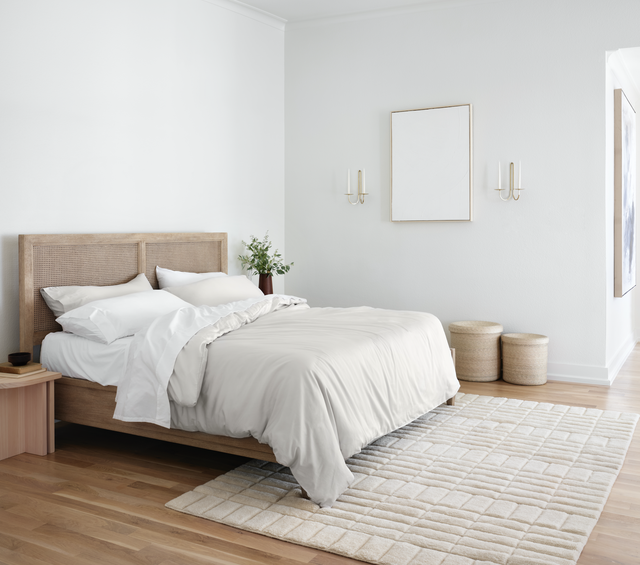 bedroom with neutral tones
