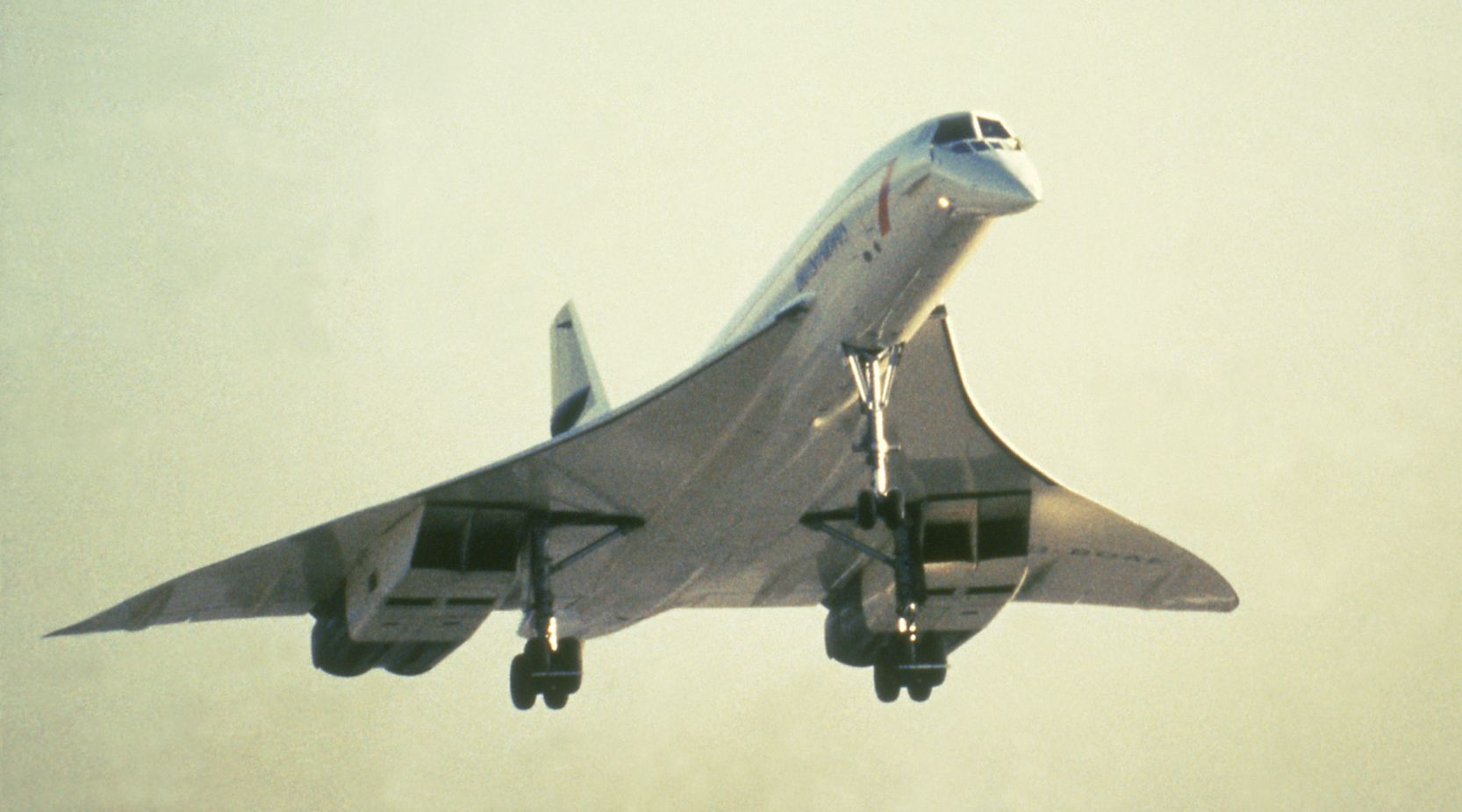The Concorde in flight