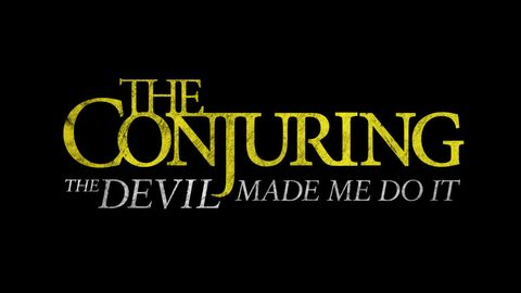 logo for the conjuring the devil made me do it