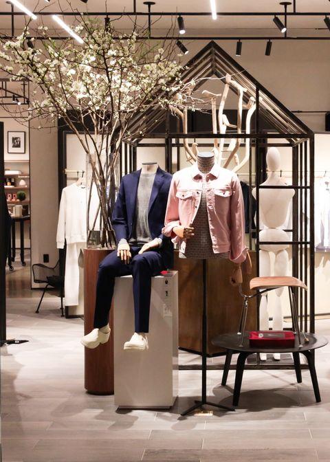 Boutique, Suit, Display window, Building,